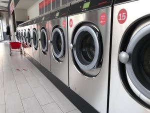 "Washers in the ""Schleudertraum"" Laundry Berlin"